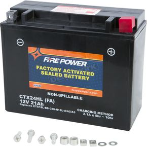 Sealed Factory Activated Battery - CTX24HL-FA