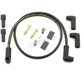 Black Universal Race Spiral Core Spark Plug Wire Set - 175093