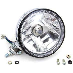 V-Twin Manufacturing Chrome 5 3/4 in. Headlight - 33-1615
