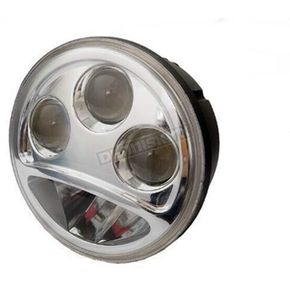 V-Twin Manufacturing 5 3/4 in. LED Replacement Headlight For Custom Application Only - 33-1015