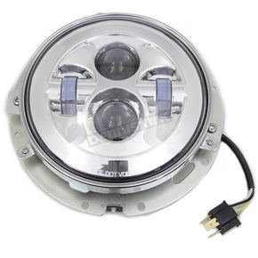 V-Twin Manufacturing Chrome 7 in. LED Headlamp - 33-1104