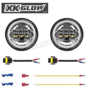 XK Glow Chrome Driving Lights - XK042007-W