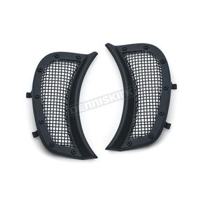 Kuryakyn Satin Black Mesh Headlight Vent Accents - 6519