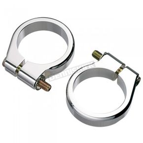 Joker Machine Chrome 41mm Fork Mount Turn Signal Clamps - 05-213-2C