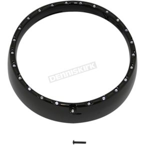 Gloss Black/White  7 in. LED Halo Headlight Trim Ring - CDTB-BAT-W-14-B