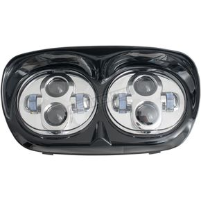 Chrome LED Headlight Assembly - LED-145C