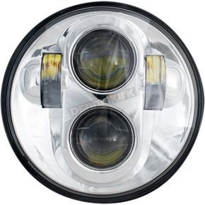 Chrome 5 3/4 in. LED Headlight - LED-140