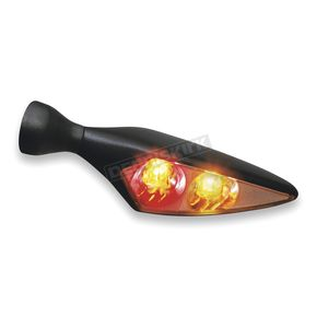 Satin Black Rear Right Micro Rhombus Run/Turn/Brake Light - 2544