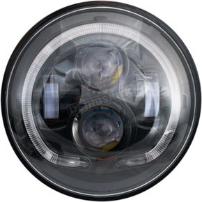 Black 7 in. LED Headlight - LED-130B