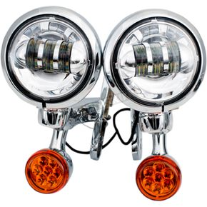 Chrome LED Auxiliary Lights & Turn Signals - MV185