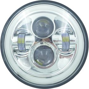 Chrome 7 in. High Definition LED Headlight w/Full Halo - HD7MCH