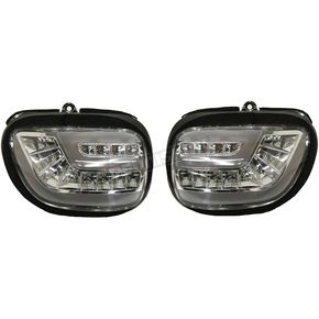 Front LED Sequential Turn Signal Kit w/Clear Lens - G18DTC