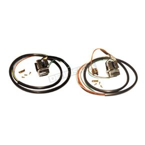 Handlebar Switch Wiring Kit w/Chrome Switches - 12067