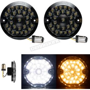 Front Flat Style Pro Grid 1157 LED Turn Signals - HW307010