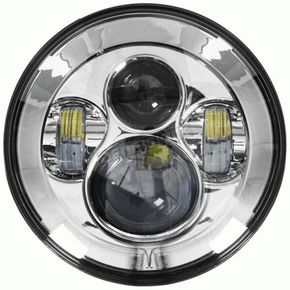 Silver 7 in. Round Headlight - BC-701S