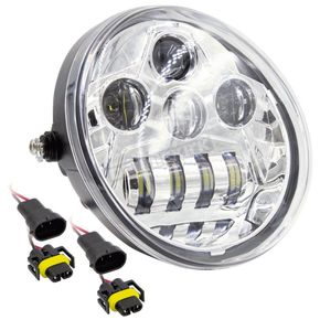 Silver 7 in. Oblong Oval Headlight - BC-HDHLR2