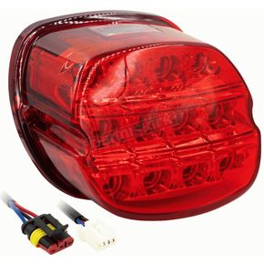Replacement LED Taillight w/Red Lens - BC-HDTL5