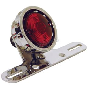 Hardbody Chrome Vintage Drilled Taillight for Custom Use - 11258