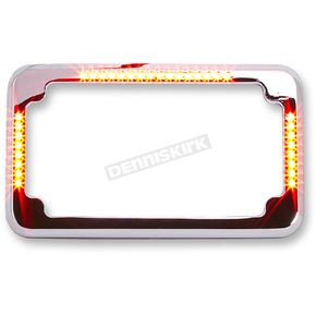 Chrome Flat Style Slick Signal License Plate Frame - CV-4620