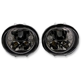 Custom Dynamics Black 5.75 on Oval Headlamp Kit - CDTB-575OV-B