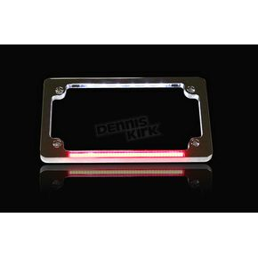 Custom Dynamics Chrome Dual LED License Plate Frame - TF02-C