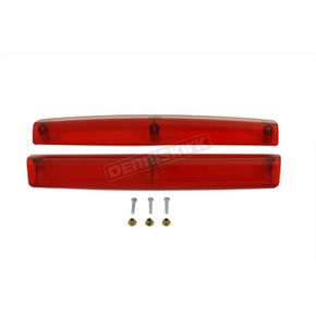 V-Twin Manufacturing Red Side Marker Lamp Lens Set - 33-1201
