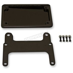 Custom Dynamics Black V-Rod License Plate Relocation Kit for Models w/180mm Tire - HDVPF-KIT-180-B