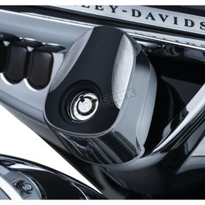 Kuryakyn Chrome/Black Sculpted Ignition Switch Cover - 6995
