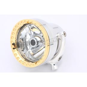 Ken's Factory 4 1/2 in. Polished Neo-Fusion Headlight w/Brass Ring  - 11-003
