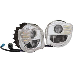 Show Chrome Tridium 3-Function LED Fog Light Kit - 52-916