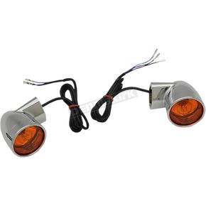 Chrome Bullet-Style Front Turn Signals - 2020-1377