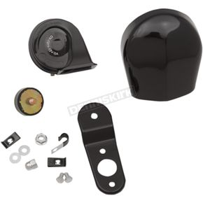 Drag Specialties Black Electric Horn Kit  - 2107-0246
