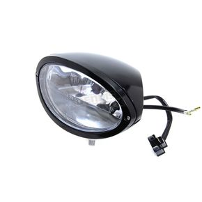 V-Twin Manufacturing Black Oval Style Headlamp - 33-1542