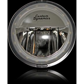 Custom Dynamics Chrome 4.5 in. Halo LED Passing Lamps - CDTB-45-H-C