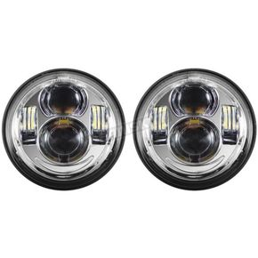 HogWorkz Chrome 4.65 in. LED Headlight - HW195207