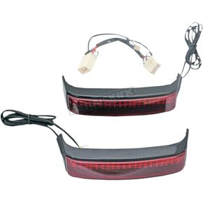 Custom Dynamics HD Bagz Saddlebag Lights w/Red Lens for H-D OE Saddlebags - CS-SB-HD-BR