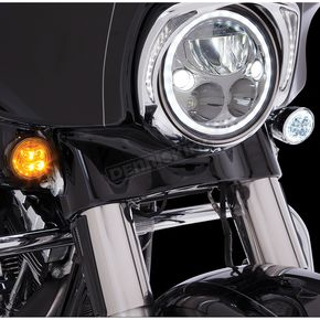 Ciro Chrome Fang Front Turn signal Light Insert - 45400