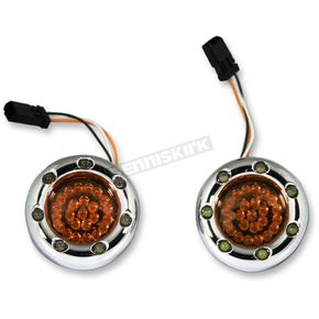Custom Dynamics Chrome Bullet Ringz w/Amber LED Turn Signals  - BTRC-AW-JAE-A
