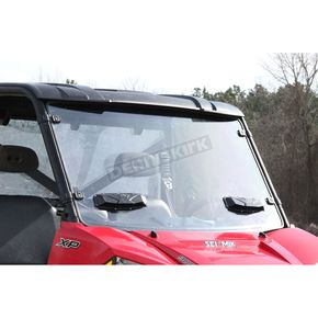 Seizmik Vented Full Windshield - Hard Poly - 25026