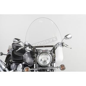 Slip Streamer 22 in. SS-30 Classic Windshield w/Chrome Quick Release Hardware - SS-30-22CTQ