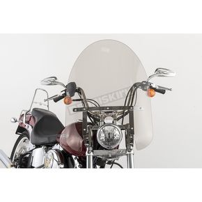 Slip Streamer 22 in. Smoke SS-30 Classic Windshield w/Chrome Quick Release Hardware - SS-30-22TFQ