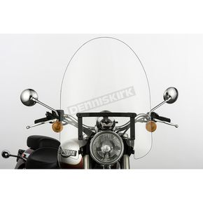 Slip Streamer 22 in. Clear SS-30 Classic Windshield w/Black Quick Release Hardware - SS-30-22CFQB