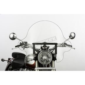 Slip Streamer 16 in. Clear SS-32 Falcon Windshield w/Black Quick Release Hardware - SS-32-16CVQB