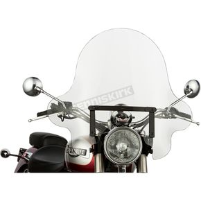Slip Streamer 20 in. Clear SS-32 Falcon Windshield w/Black Quick Release Hardware - SS-32-20CQB