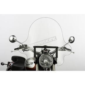 Slip Streamer 20 in. Clear SS-32 Falcon Windshield w/Black Quick Release Hardware - SS-32-20CTQB
