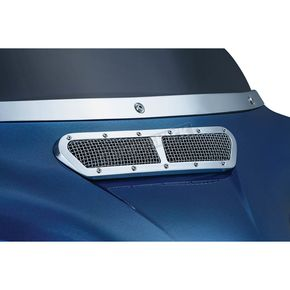 Kuryakyn Chrome Mesh Fairing Vent Accent - 6511