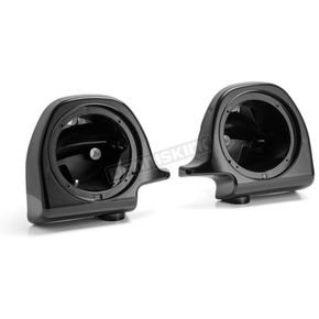 Vivid Black 6 1/2 in. Lower Fairing Speaker Pod Mounts - HW144008