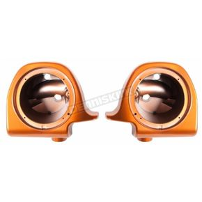 Amber Whiskey 6 1/2 in. Lower Fairing Speaker Pod Mounts - HW144009