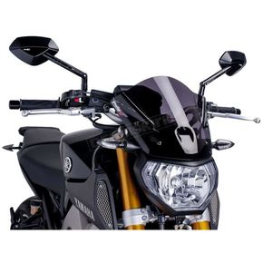 Dark Smoke Naked New Generation Sport Windscreen - 6859F