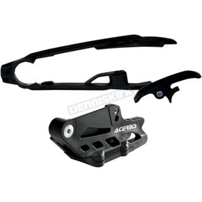Acerbis Black Chain Guide and Slider Set - 2630760001